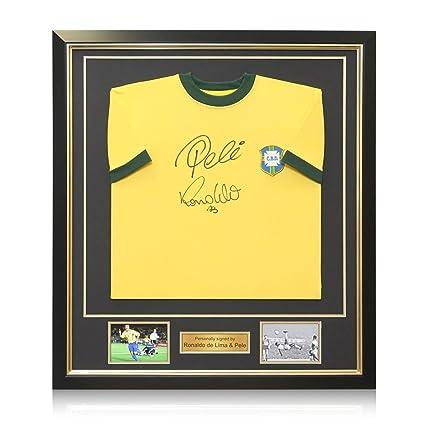 wholesale dealer 4f39e 24a42 Ronaldo de Lima and Pele Signed Brazil Soccer Jersey In ...