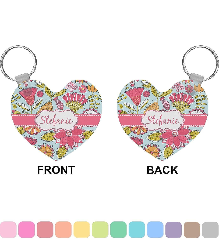 Wild Flowers Heart Keychain (Personalized)