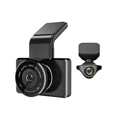 myGEKOgear - Orbit 950 1080P Front + Rear Full HD Dash Cam, Driving Recorder, Car DVR, GPS Logging, Wi-Fi Enabled, Wide Angle, Motion Detection, Driver Assist Features, 16GB Micro SD Card Included: Car Electronics