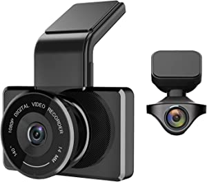 myGEKOgear - Orbit 950 1080P Front + Rear Full HD Dash Cam, Driving Recorder, Car DVR, GPS Logging, Wi-Fi Enabled, Wide Angle, Motion Detection, Driver Assist Features, 16GB Micro SD Card Included