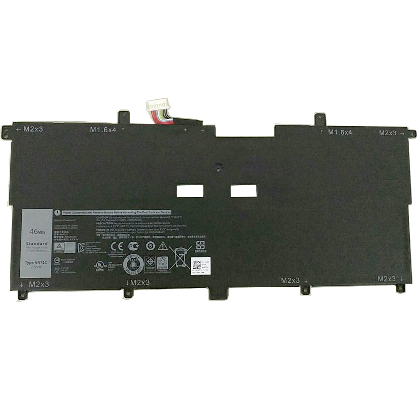 Dentsing 7.6V 46Wh NNF1C Battery for Dell XPS 13 9365 HMPFH Series