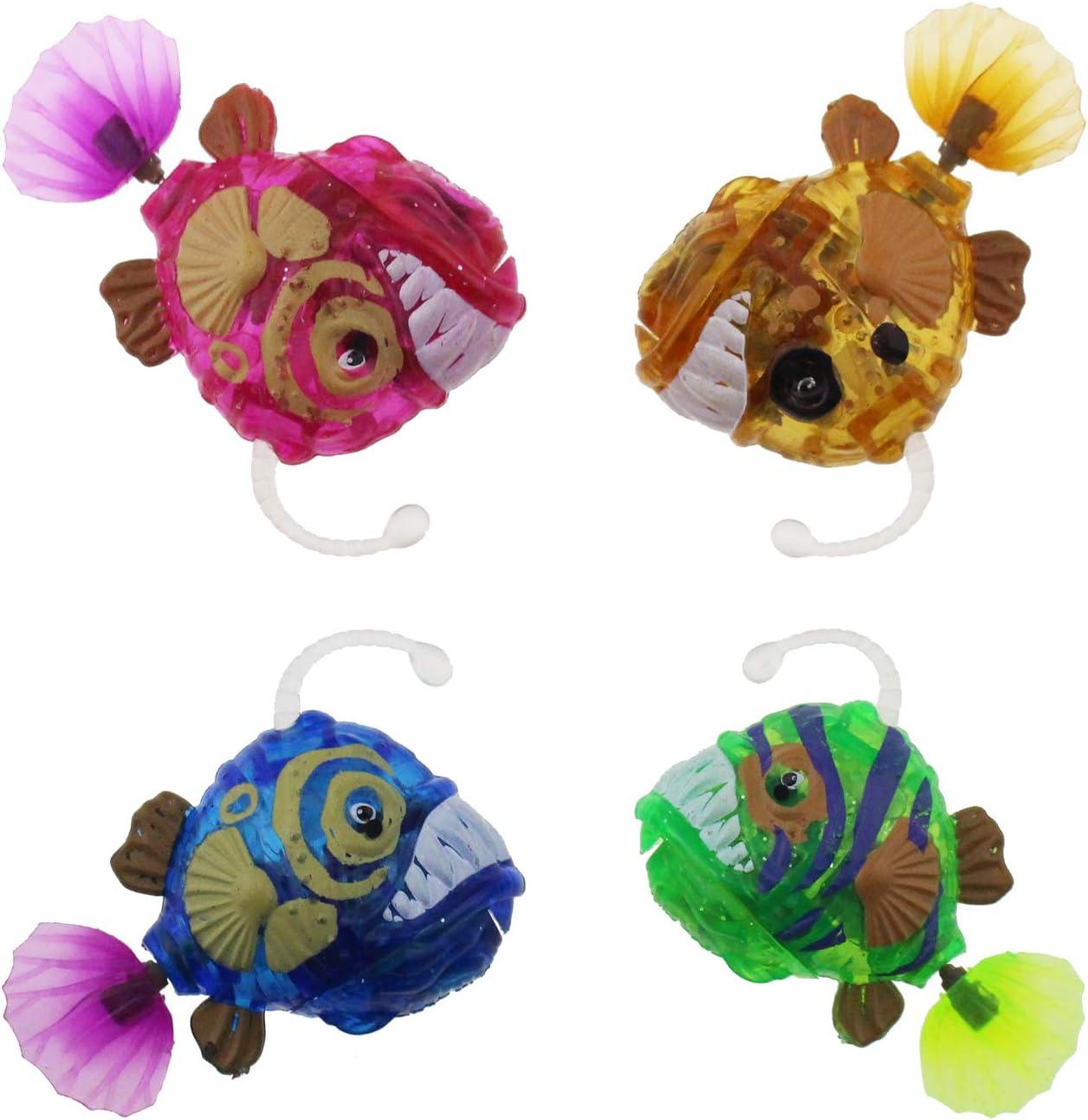 Escomdp Juguetes eléctricos para Peces Mascotas de Animales electrónicos Juguete de baño para bebés y niños pequeños Tanque de Peces Regalo para niños (4 Piezas)