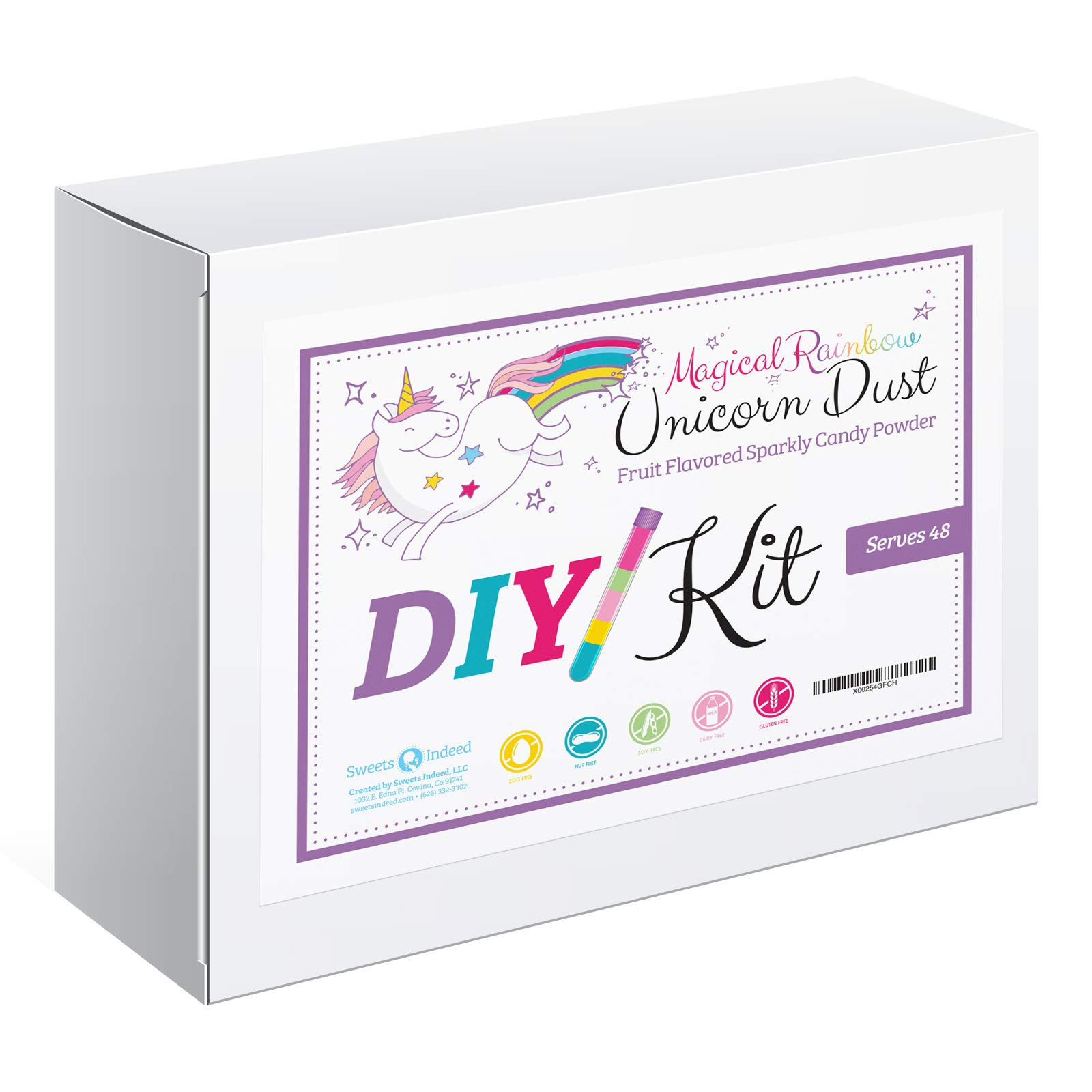 DIY Candy Kit | Magical Rainbow Unicorn Dust | Glittery Candy Powder | Serves 48 | Fun Party Activity! | Gluten, Dairy, Soy and Nut Free! | Fruit Flavored Candy | MADE IN THE USA!