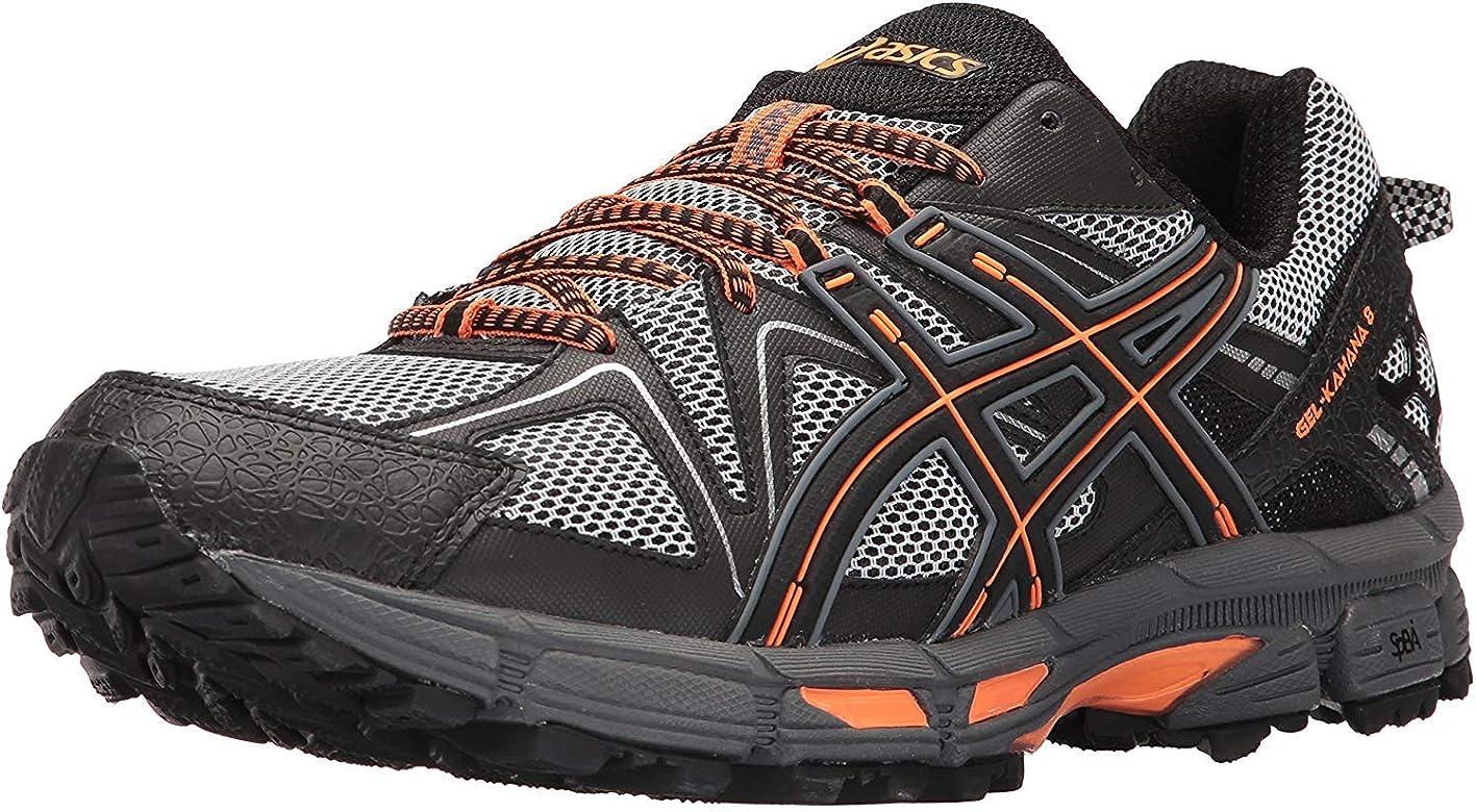 Asics Gel-Kahana 8 - Zapatillas de correr para hombre, Negro (Negro/Naranja Caliente/Carbono), 44 EU: Amazon.es: Zapatos y complementos