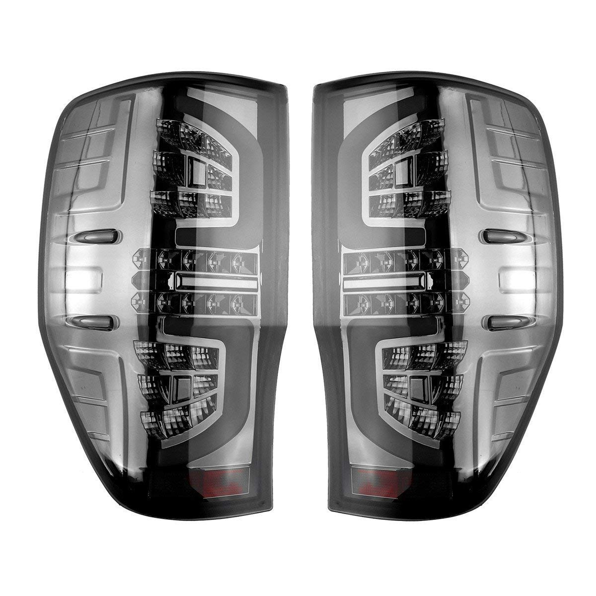 Casavidas Pair Smoked LED Car Rear Tail Light Lamps for Ford Ranger PX T6 MK2 XL XLT XLS Wildtrak at Generic
