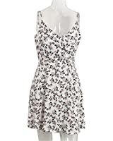 Annjoli-dy Fashion floral imprimir summer dress mulheres casual v neck strap beach dress NEW