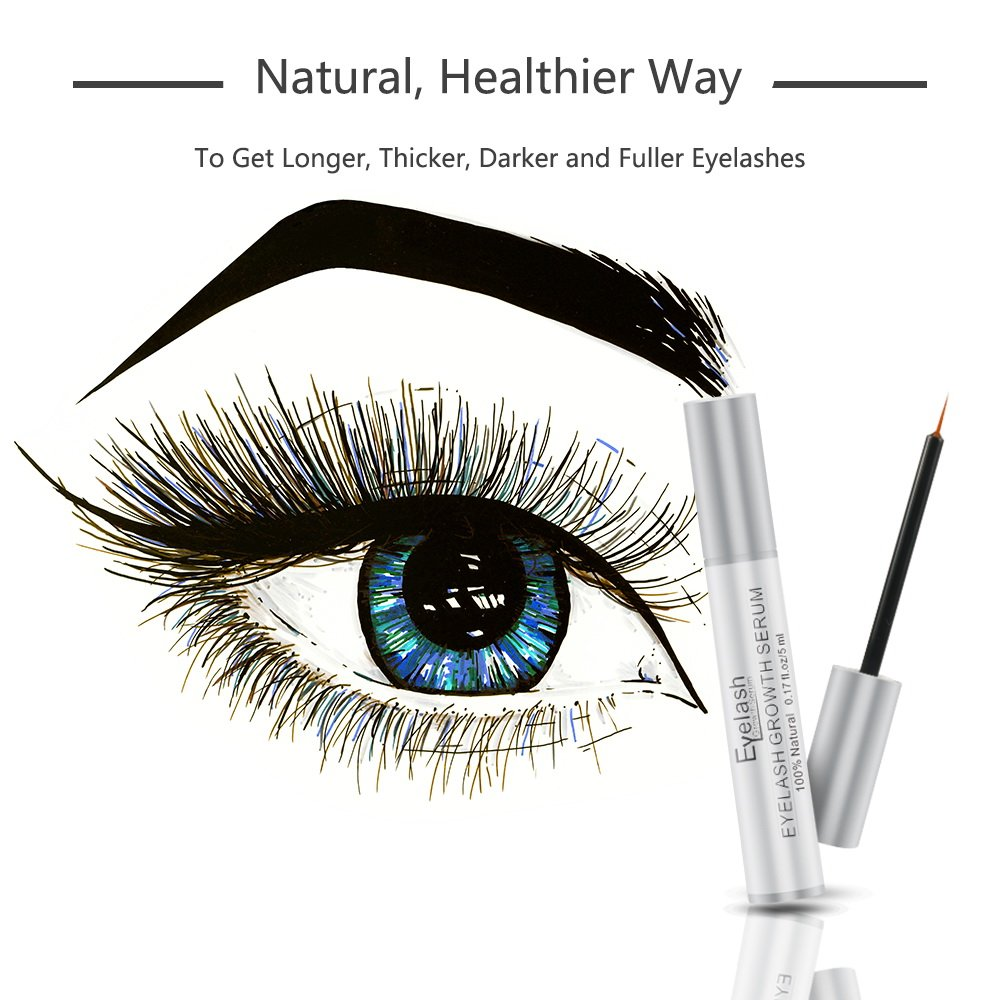 3c2a4f53ee6 Amazon.com : Terresa Eyelash Serum, Eyelash Growth Enhancer, Eyebrow Serum  for Long, Thicker Lashes and Eyebrows : Beauty