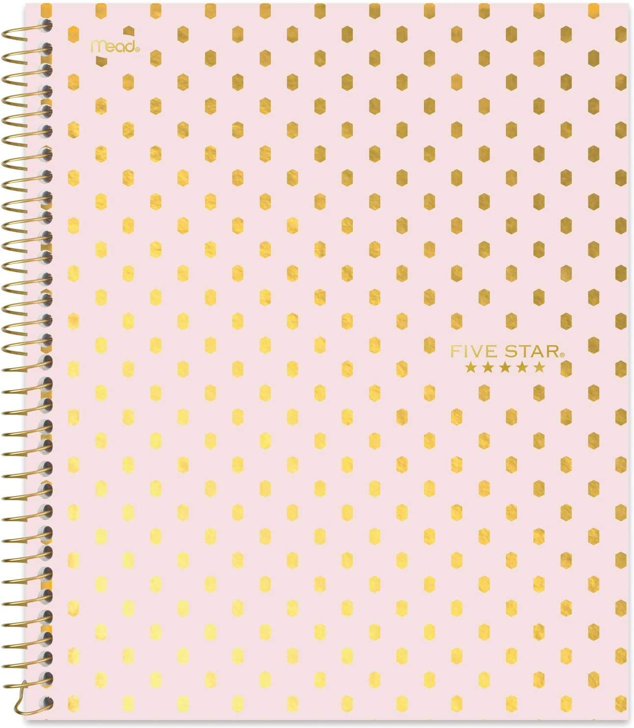 "Five Star Spiral Notebook, 1 Subject, College Ruled Paper, 100 Sheets, 11"" x 8-1/2"" Sheet Size, Assorted Designs, Design Selected For You, 1 Count (06348)"