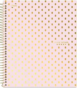 """Five Star Spiral Notebook, 1 Subject, College Ruled Paper, 100 Sheets, 11"""" x 8-1/2"""" Sheet Size, Assorted Designs, Design Selected For You, 1 Count (06348)"""