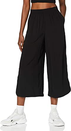 Urban Classics Women's Ladies Wide Viscose Culotte Slacks
