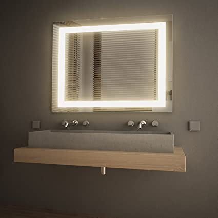 Amazoncom Getinlight Led Wall Mounted Lighted Vanity Mirror 3000k