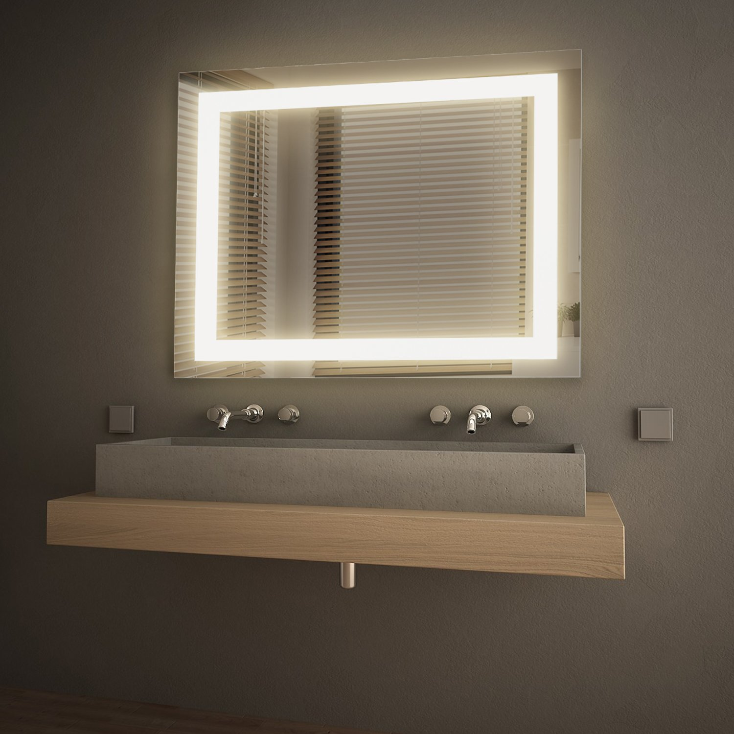 GetInLight LED Wall Mounted Lighted Vanity Mirror, 3000K(Soft White), ETL Listed, Damp Location Rated, IN-0405-3-30-36-3K