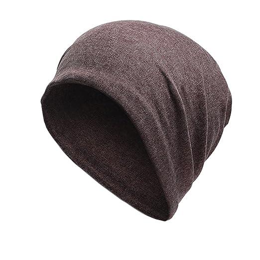 7317502b8f8 Moore Mens Cotton Beanie Soft Cap Unisex Sleep Street Dancer Warm Hat  Winter (Brown)
