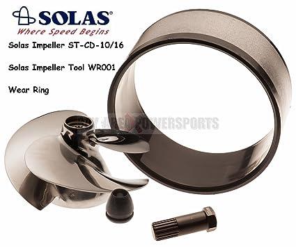 Solas Sea Doo Impeller ST-CD-10/16 w/ Wear Ring & Tool GTI GTI LE GTI RFI  GTS 3D