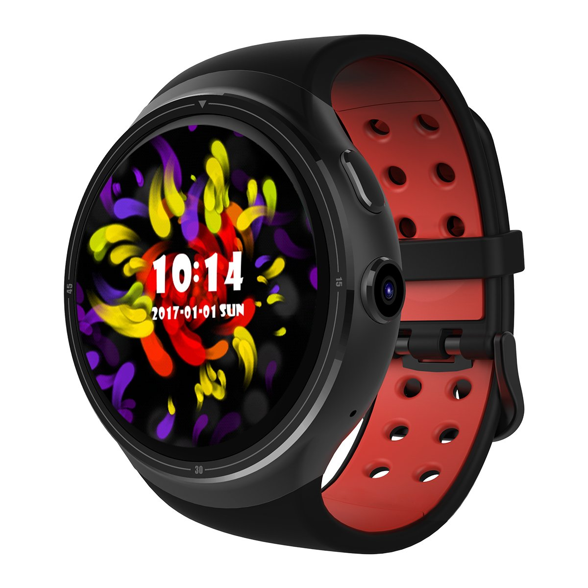 Diggro DI06 Smart Watch Android 5.1 Bluetooth MTK6580 3G WCDMA 1.0GHZ Quad Core RAM1GB+ROM16GB 2.0MP Camera Support Nano SIM Card GPS WIFI Heart Rate Monitor Pedometer Health Reminder for Android IOS