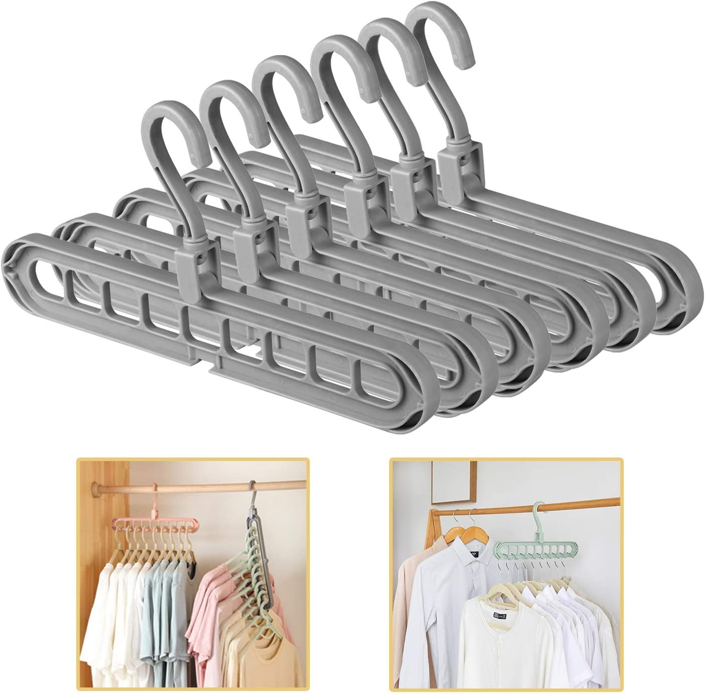 helegeSONG 2PCS Rainbow Clip and Drip Hanger PortableTravel Hanger Multifunctional Drying Rack with 8 Clips Clothes Drying Racks Folding Clothing Hanger 2 Pack Rainbow