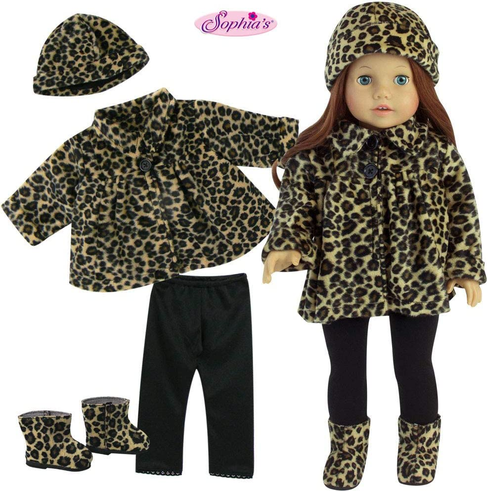 "LEOPARD PRINT VEST fits AMERICAN GRIL /& 18/"" dolls NEW!"