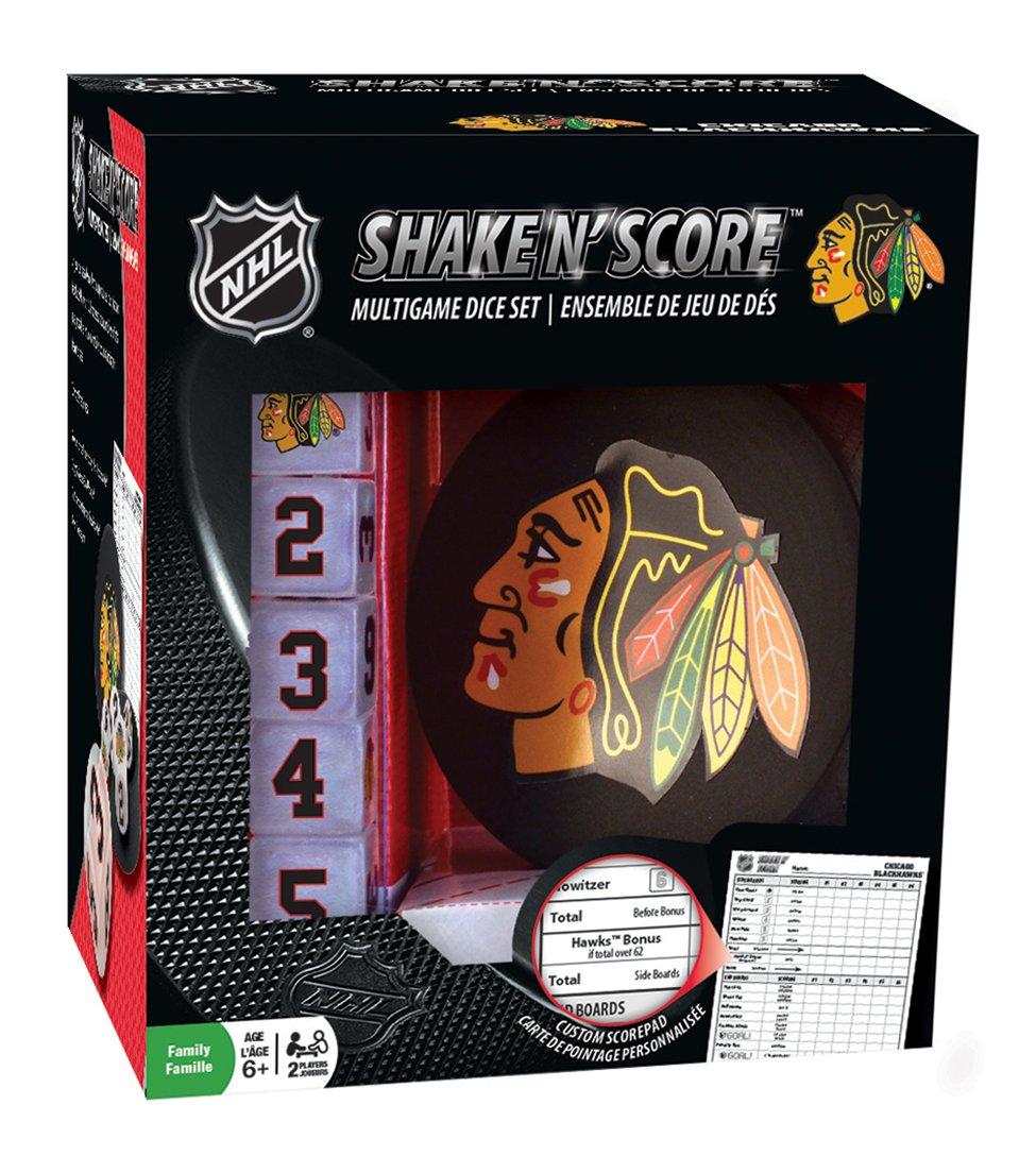 MasterPieces NHL Chicago Blackhawks Shake 'n Score Dice Game