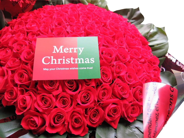 クリスマスプレゼント 赤バラ 108本 花束 枯れない プリザーブドフラワー使用花束 赤バラ 108本 花束 B07LD9JP6X