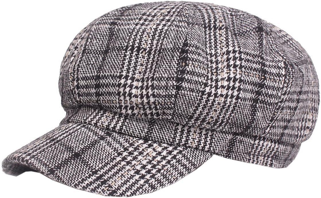 ACVIP Womens Cheetah Pattern Wool Beret Beanie Retro Cap