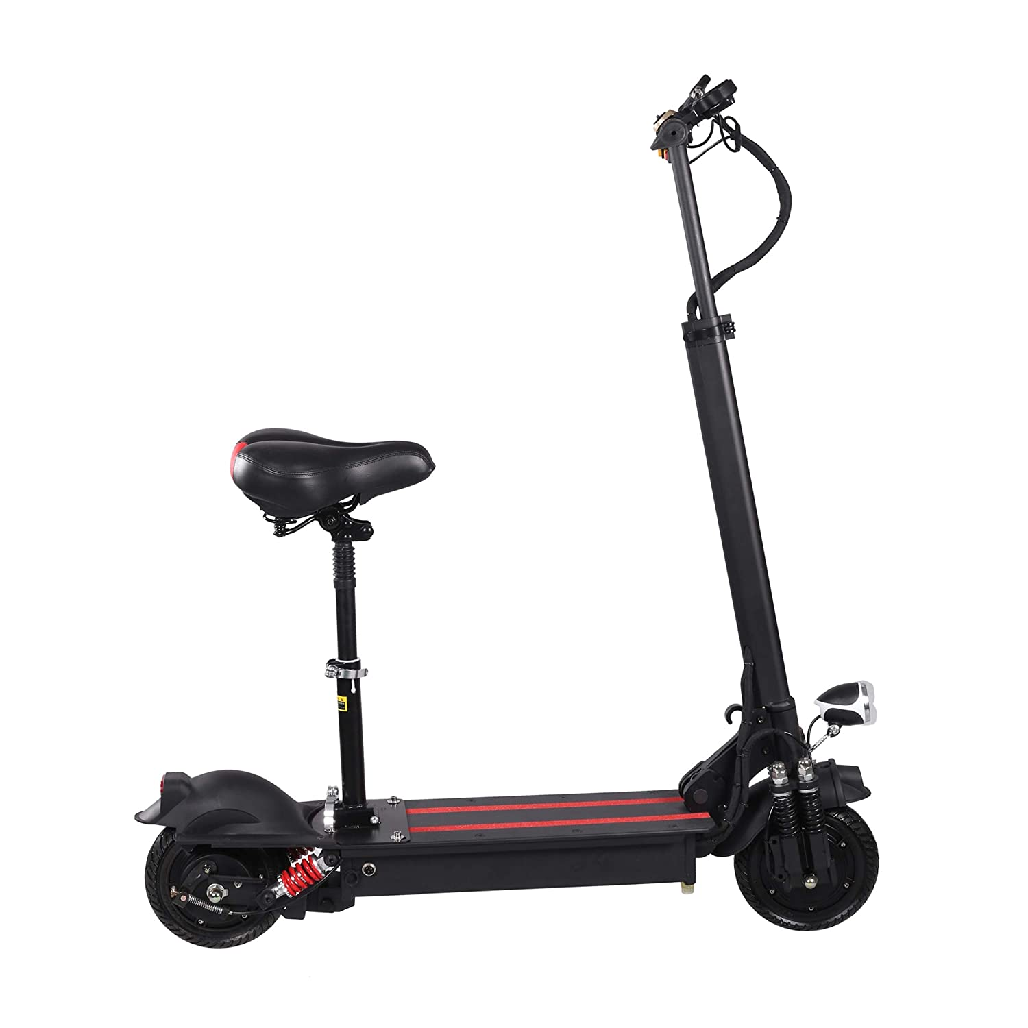 XULONG Electric Scooters Adult Foldable, 200 kg Max Load with Seat 10 Inch 60km/H, Lithium Battery 48V 8AH, 1500W Dual Motor Drive with LED Light and HD Display,80kmrange