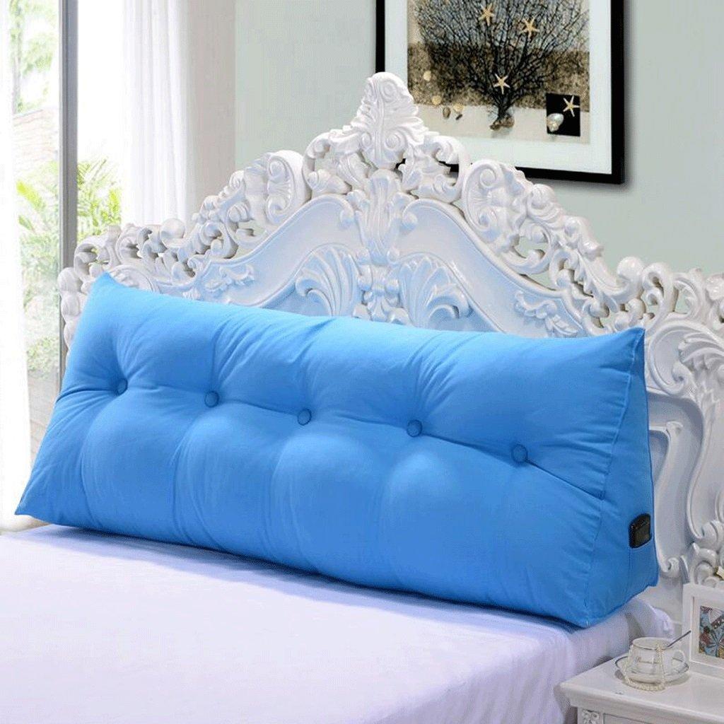 QZz Cuscino Lungo del Lato del Letto Cuscini Cotone Attivo Tela Triangolo Cuscini Cuscino di Base Cuscini del Divano (colore   A, Dimensioni   120  55  25cm)