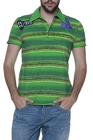 Custo Barcelona Polo BAT para hombre, Color: Verde, Talla: 3XL ...