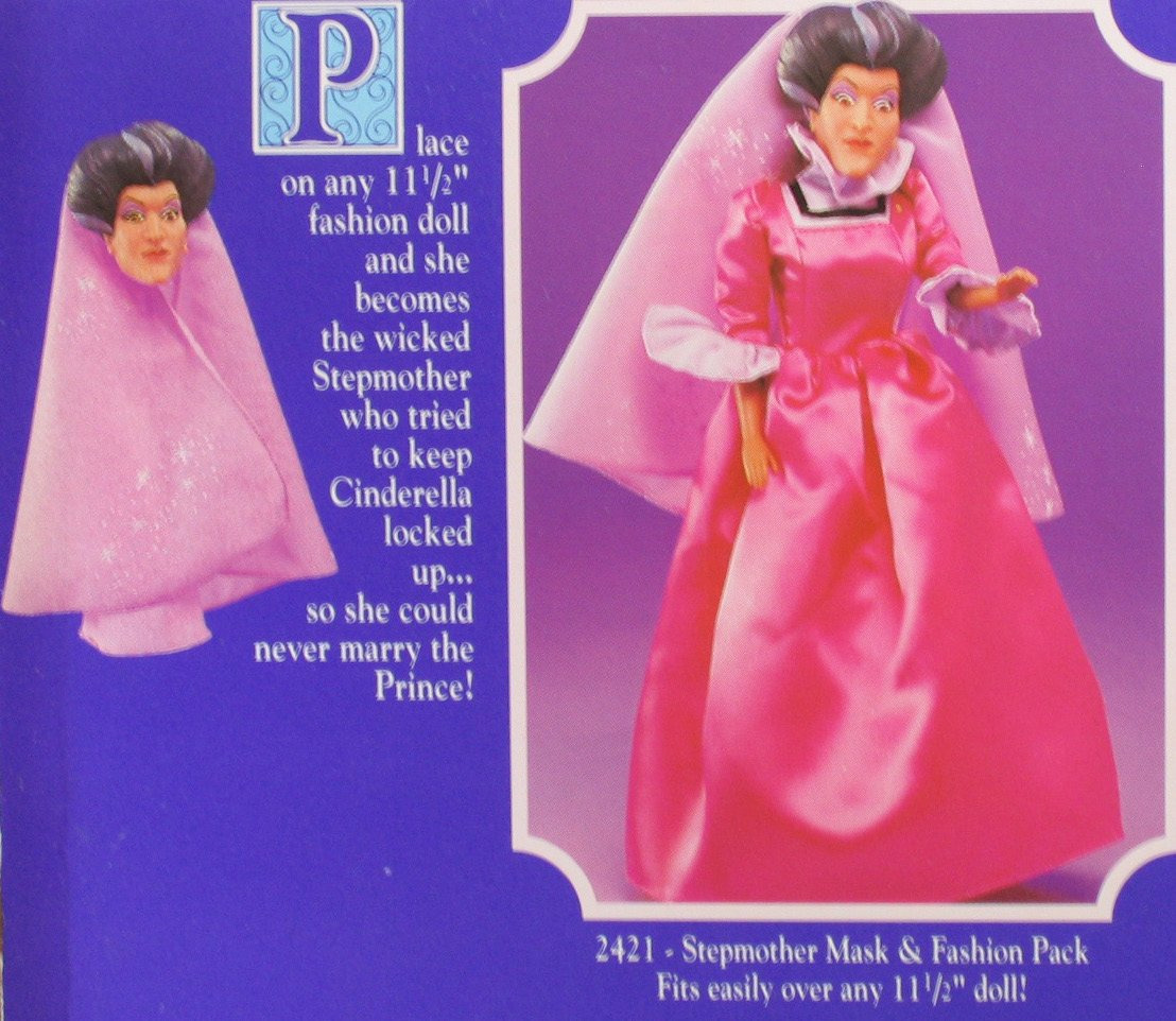 Amazon.com Cinderella Wicked Stepmother Mask u0026 Costume Playset For Barbie u0026 11.5  Fashion Dolls - Disney Classics (1992 Mattel) Toys u0026 Games  sc 1 st  Amazon.com & Amazon.com: Cinderella Wicked Stepmother Mask u0026 Costume Playset For ...
