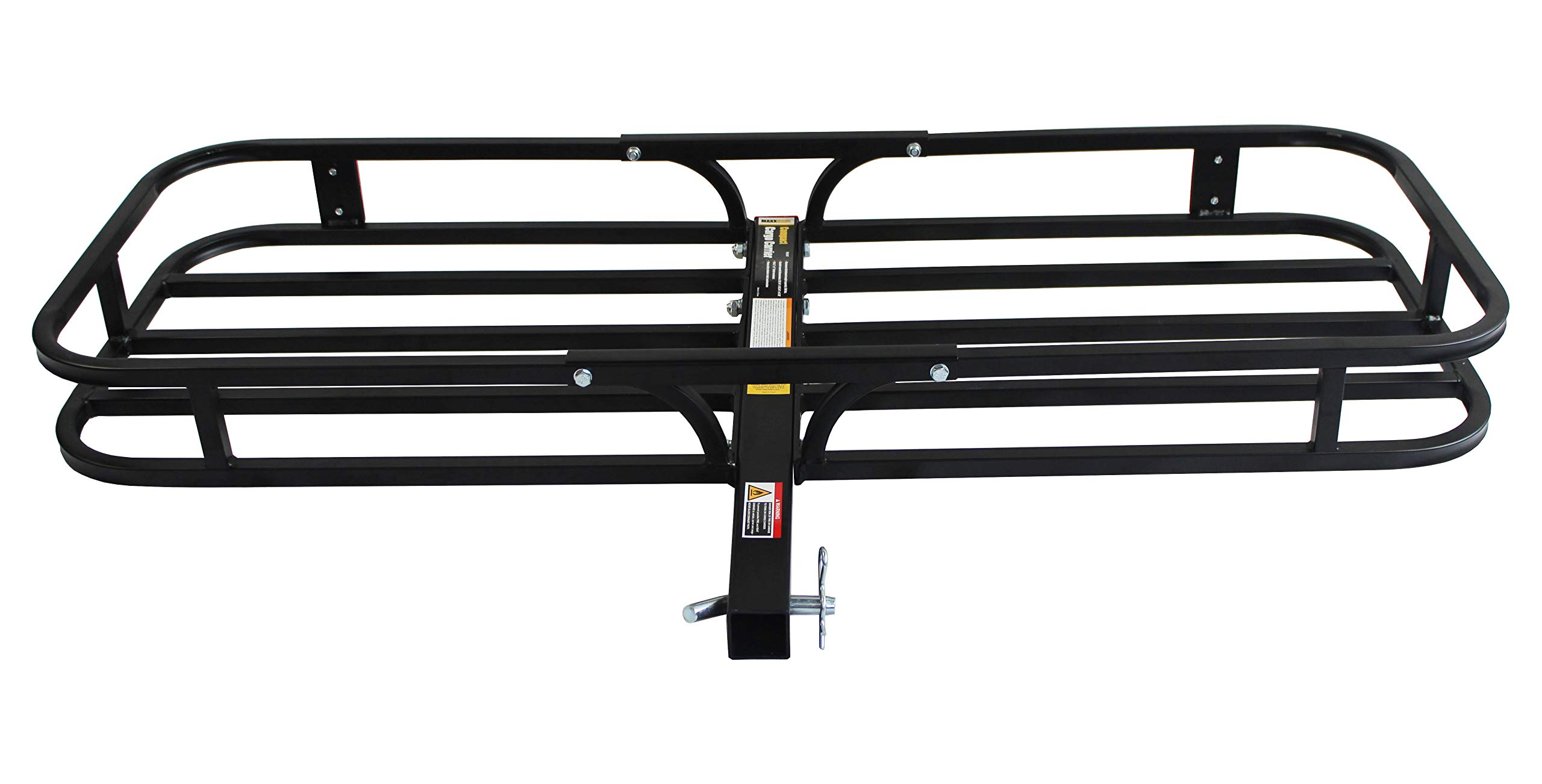 MaxxHaul 70107 Hitch Mount Compact Cargo Carrier - 53'' x 19-1/2'' - 500 lb. Maximum Capacity for 2'' Hitch Receiver