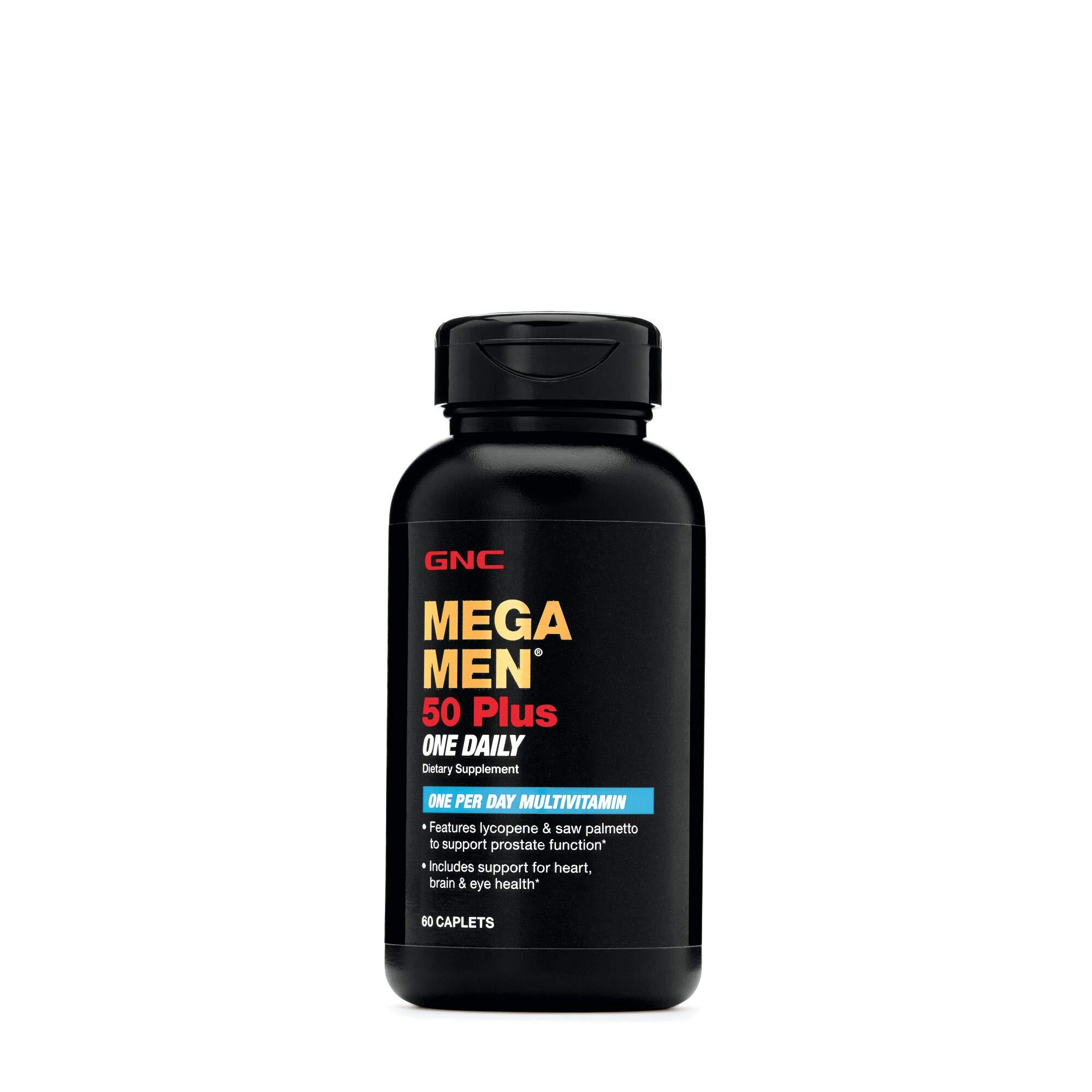 GNC Mega Men 50 Plus One Daily - 60 Caplets