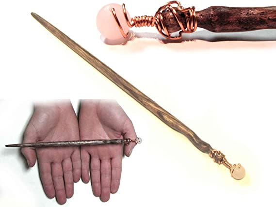 Magic Sorcerer/'s Wand Wooden Magic Wand Hand-carved Juniper Wood and Natural Stone 10mm Red Tiger Eye