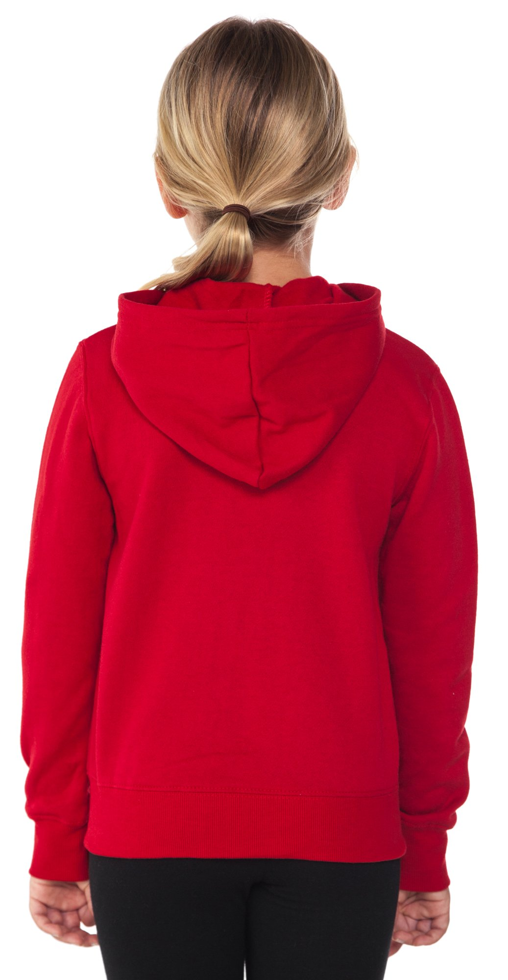 Disney Minnie Mouse Girl's Hoodie Zipper Sweatshirt Print Red (Large (10/12)) by Disney (Image #3)