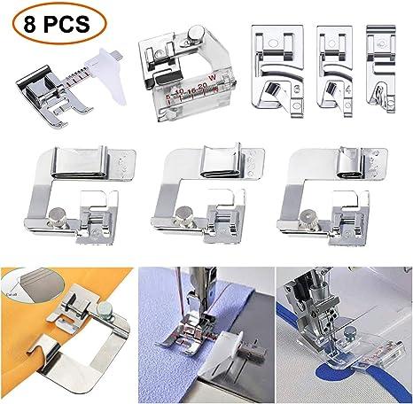 Pie para máquina de coser, 3 piezas de prensatelas para dobladillo ...