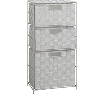 Delex® Wide 3 cassettiera da Bagno, Realizzato in Tessuto: Amazon.it ...