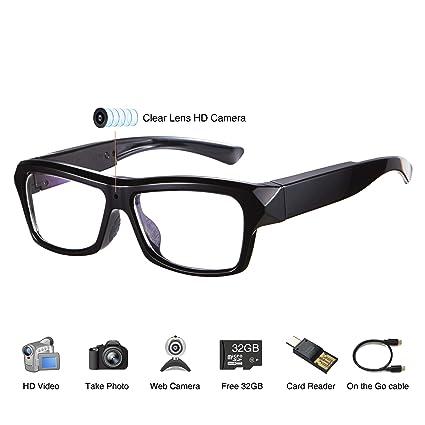 116e9d0f75536 Amazon.com   Video Glasses - HD Camera Glasses with 32GB Memory Card ...