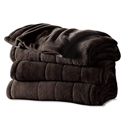 Sunbeam Heated Blanket | Microplush, 10 Heat Settings, Walnut, King - BSM9KKS-R470-16A00