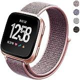 Pugo Top Ersatz-Armband für Fitbit Versa, gewebtes Nylon, verstellbarer Verschluss, leichtgewichtig, atmungsaktiv