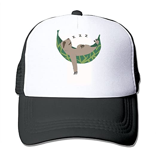 70220f77c65 Sleepy Sloth Custom Trucker Hat Mesh Ball Cap at Amazon Men s ...
