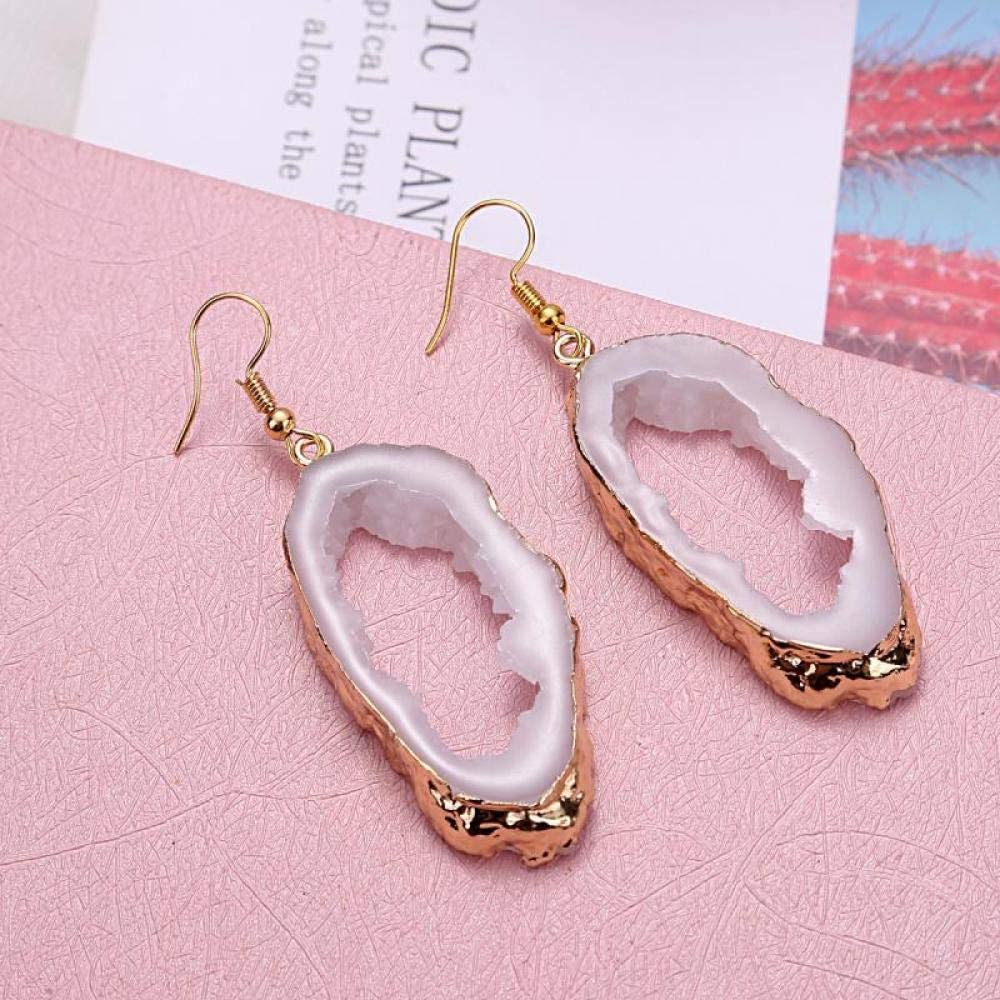 Erin Moda Coreana Damas Señoras Pendientes De Resina Aretes Colgantes De Piedras Preciosas De Oro Aretes Colgantes De Cristal De Color Navidad