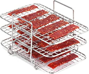 AIEVE Air Fryer Rack for Ninja Dual Air Fryer, 304 Stainless Steel Multi-Layer Dehydrator Rack Toast Rack Air Fryer Accessories Compatible with Ninja DZ201 Air Fryer Ninja Double Basket Air Fryer