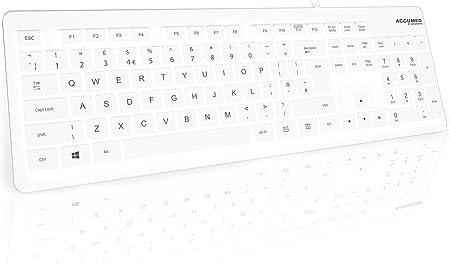 AccuMed Value Keyboard - Teclado médico Sellado IP68 con 105 Teclas
