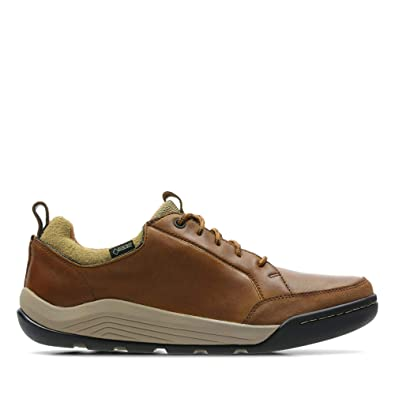 fe30724c0d9 Clarks Ashcombe Bay Gore-Tex Leather Shoes in Tan Standard Fit Size 7