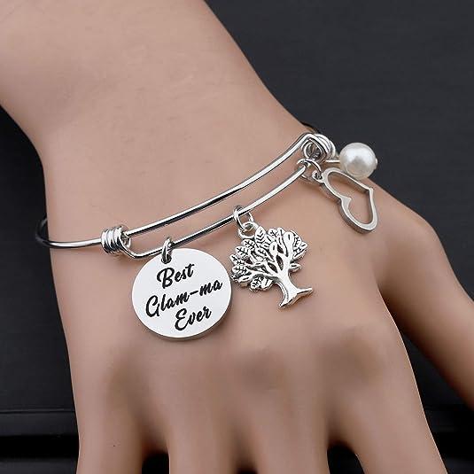 FAADBUK Grandmother Gift Glam-ma Gift Nana Gift Best Glam-ma Ever Grandmother Birthday Gift Gift for Grandma