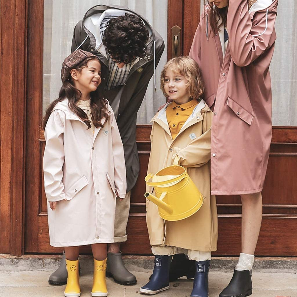 XXT Raincoat Les étudiants vont à l'école imper manteau imperméable Poncho Pink