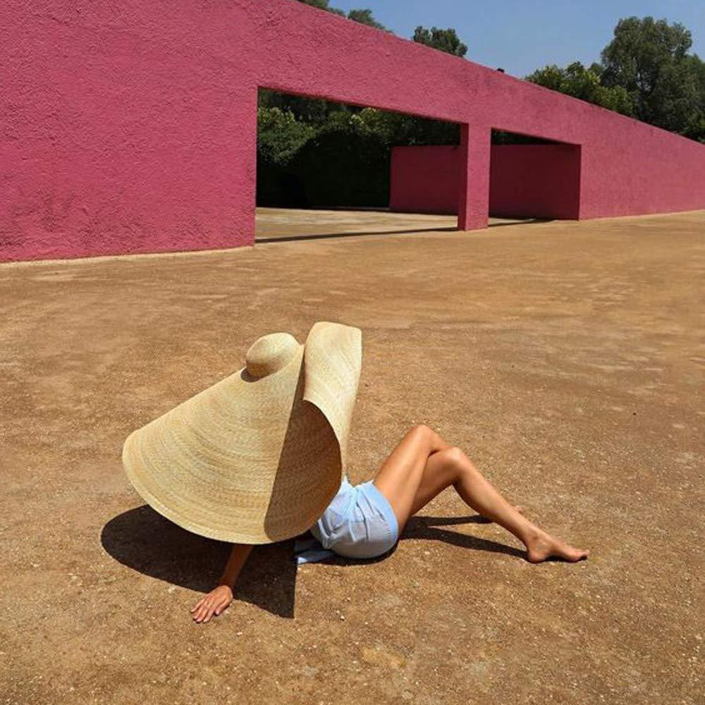 Sun Hats for Women Summer Floppy Large Brim Sun Hats for Women UV Sun Protection Wide Brim Foldable Straw Hat Myoumobi