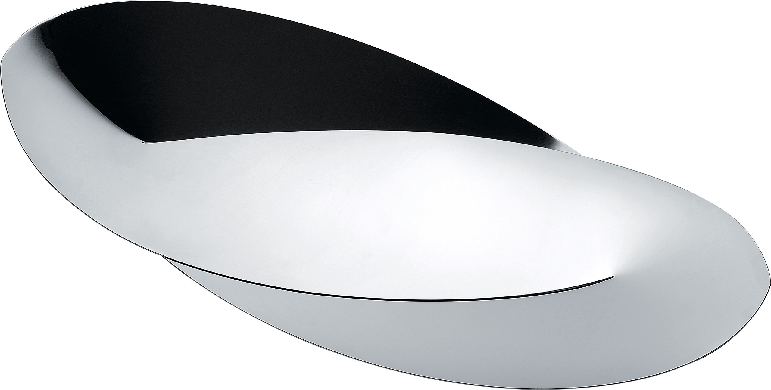 Alessi''Octave'' Bread And Breadstick Basket in 18/10 Stainless Steel Mirror Polished, Silver