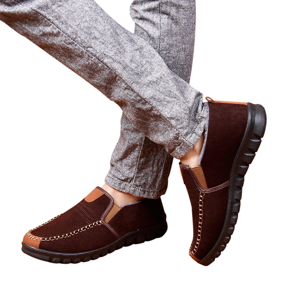 HAVINA House Slippers Comfy /& Warm Plush Fleece Lined Anti-Slip Winter Indoor Outdoor Shoes
