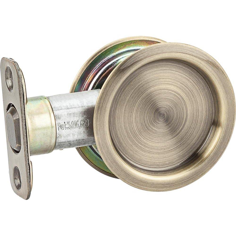 Stanley National S849-109 Stanley Hardware Round Pocket Door Pull, Polished Brass
