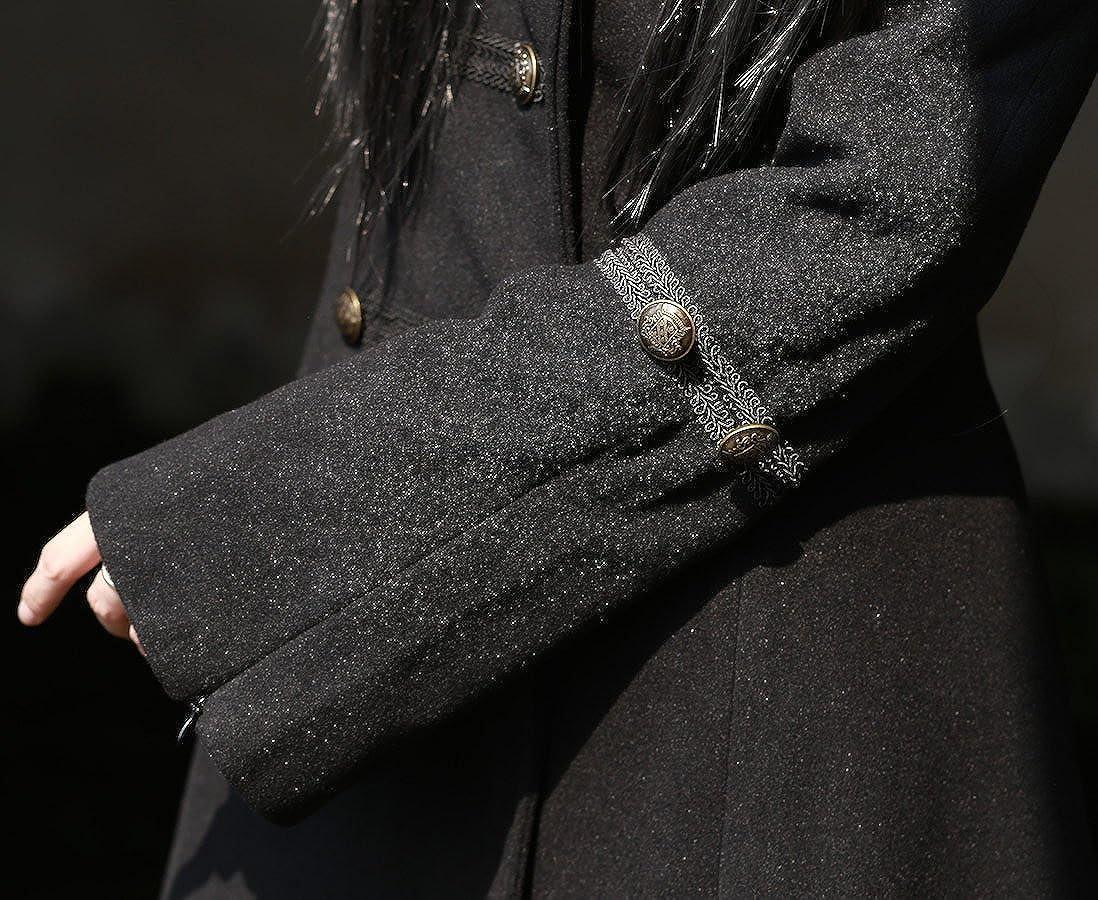 Pentagramme Manteau Noir à Capuche avec laçage au Dos