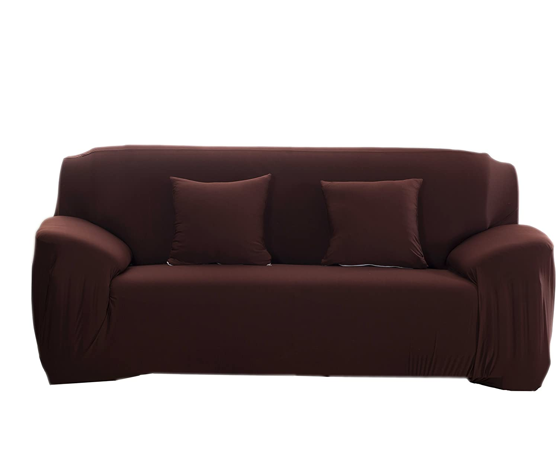 meokeyソファーカバーSlipcoverストレッチ伸縮性ファブリックソファープロテクターソファーカバー 3 35%OFF seater ブラウン B07BK12D7T 新発売 AJJ0001-BNC コーヒー